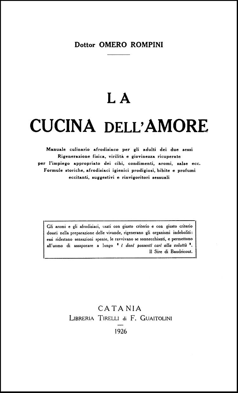 Rompini, La Cucina dell'Amore, 1926