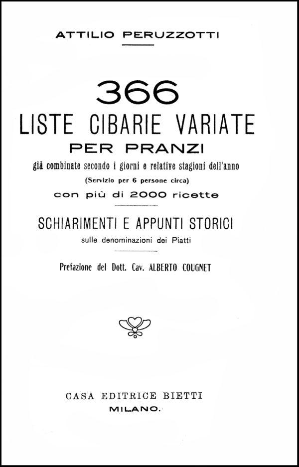Peruzzotti, 1910. Frontespizio.