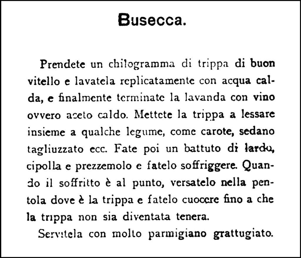 Agnetti, 1913. La Busecca.
