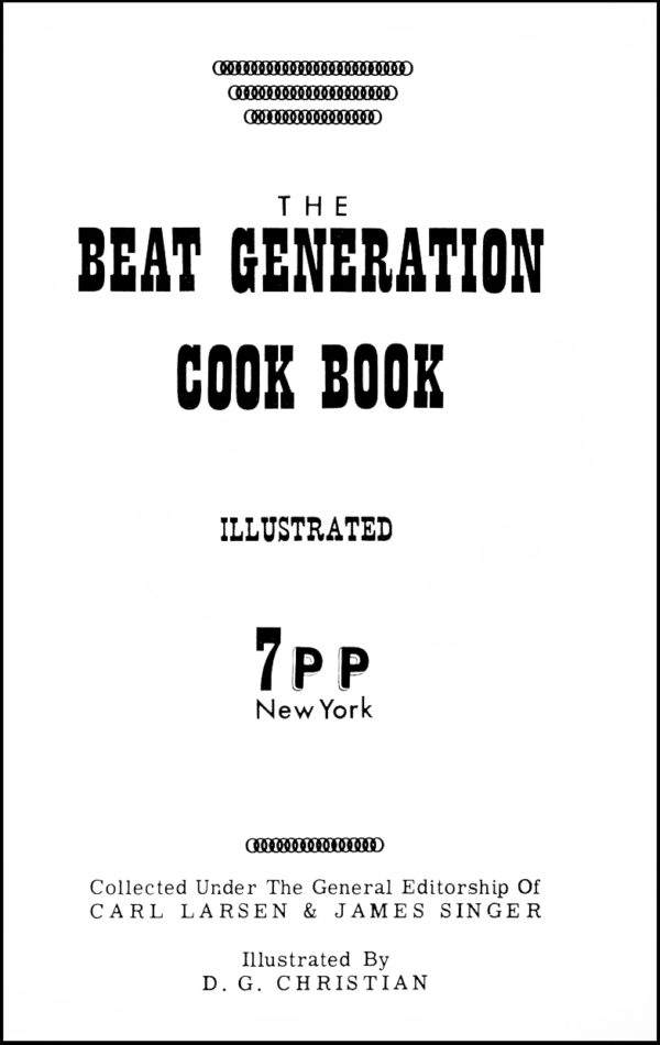 The Beat Generation Cook Book, 1961
