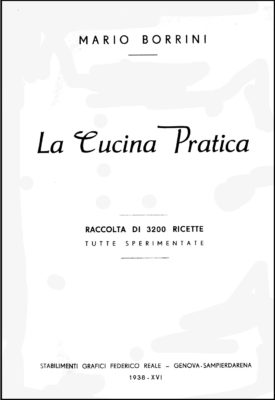 Borrini, La Cucina Pratica, 1938