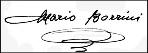 Borrini, Firma autografa