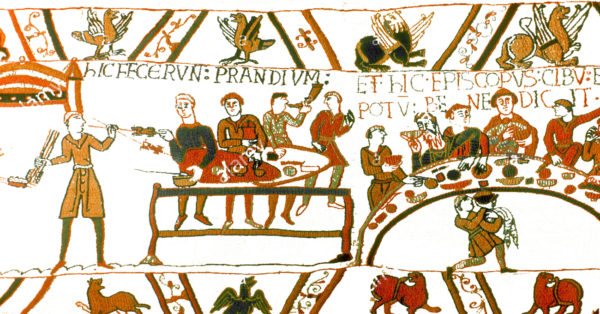Particolare dell'Arazzo di Bayeux o della regina Matilda. Bayeux, Centre Guillaume le Conquérant)
