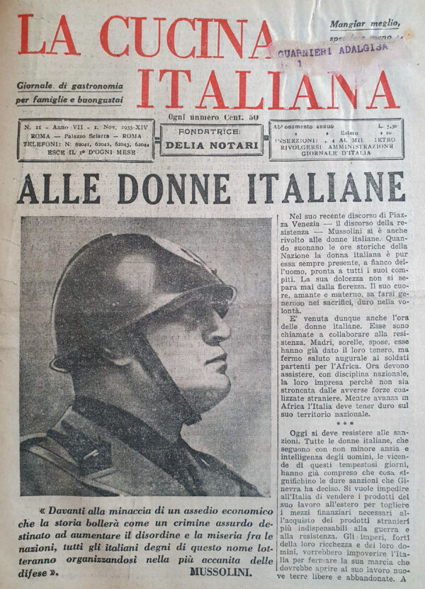 La Cucina Italiana, n.11 (1935)