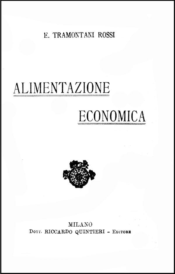 Tramontani Rossi, 1919. Frontespizio.