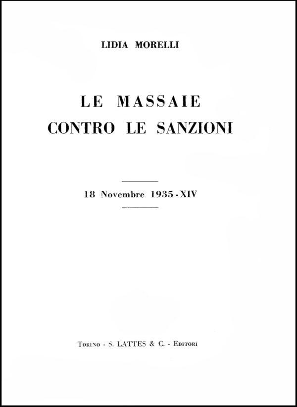 Lidia Morelli, 1935. Frontespizio.