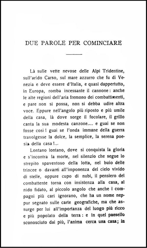 Grillo del Focolare, 1917. Prefazione.