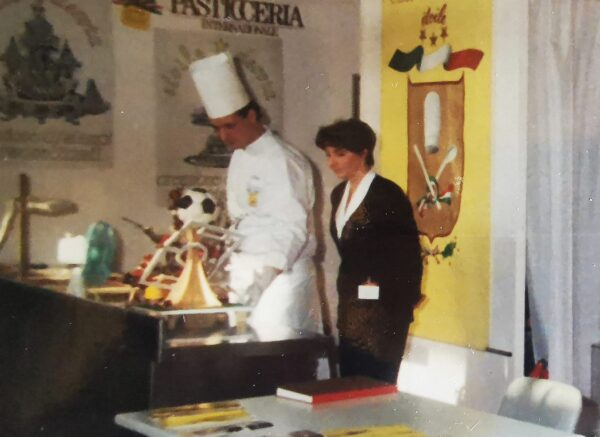 Biasetto e la Sandra al Sigep del 1990