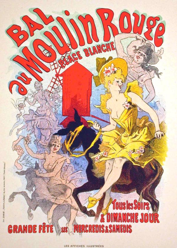 Jules Cheret, Bal au Moulin Rouge, 1889