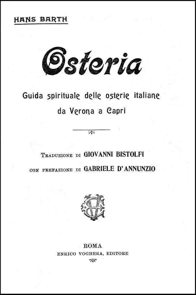 Hans Barth, Osteria, 1909