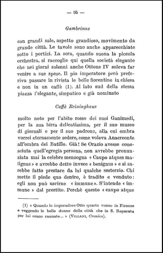 Il Gambrinus di Firenze, Hans Barth