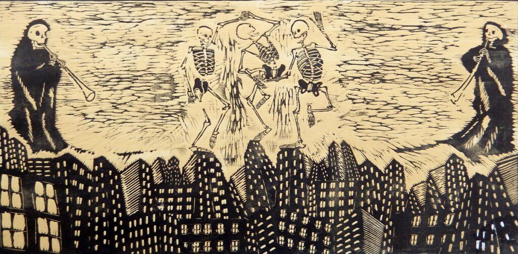 Danza Macabra, xilografia