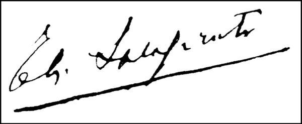 Enrico Alliata di Salaparuta, firma autografa